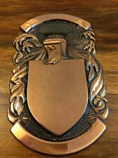 Metal Heraldry Coat Of Arms /family Crest Blank Plate For Shields Plaques Medium
