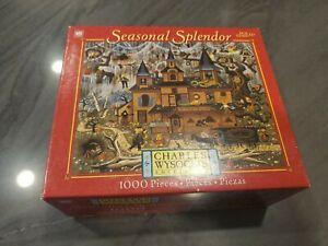 Charles Wysocki Sweetheart Hotel 1000 Puzzle Complete Hasbro Seasonal Splendor