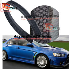 Glossy Carbon Fiber Evo 10 X Style Front Fender Side Vent Cover Trim For Lancer