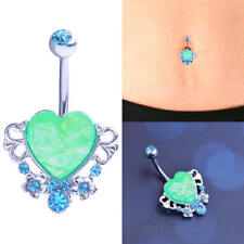 Belly Button Heart Star Stainless Steel Body Piercing Jewelry Belly Button Ring
