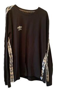 Umbro T Shirt Long Sleeves Black XL NWOT