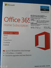 MS Office 365 Home 1 Year Subscription Voucher for 5-PC OR Mac+5 Phones OR Tabs