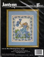 ** COUNTED CROSS STITCH KIT JANLYNN #125-125 BLUE MORNING GLORY ANGEL