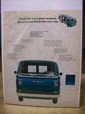 Original 1966 GMC Handi Van Magazine Ad - ... Has 7 Great Features...