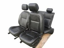 2009-2011 JAGUAR XF COMPLETE LEATHER SEATS SET BLACK OEM