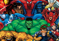 Marvel Super Hero Characters poster Print A4..260gsm
