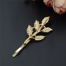 4x Shiny Golden Leaves Hair clips Hair Pins Hair accessory all occasion,Wedding