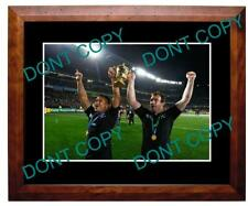KEVEN MEALAMU NZ ALL BLACKS 2011 W/CUP FINAL A3 PHOTO 4