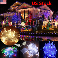 10M 100LED 110V String Fairy Waterproof Light Lamp Xmas Party Christmas US Plug