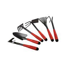 Flora Guard 6 Piece Garden Tool Sets - Including Trowel,5-Teeth rake,9-Teeth .