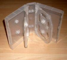 DVD Hüllen Case 12fach 12er Hülle transparent 4,9 cm 49mm für 12 DVDs Neu