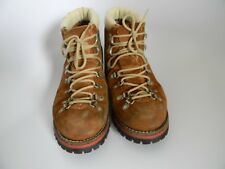 Hiking Relay Mens Boots 1970's Brown Leather Upper Size 7M ACTWU Made in USA!