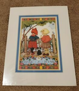 "NEW 1998 MARY ENGELBREIT MATTED PICTURE/PRINT 8X10 ""MAKE A WISH"""