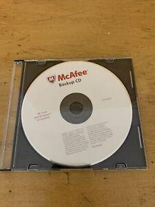 McAfee Backup CD Quickly Reinstall PC Software Windows XP Vista Windows 7