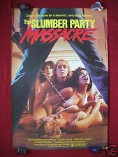 THE SLUMBER PARTY MASSACRE *1982 ORIGINAL MOVIE POSTER SEXY BOOBS HALLOWEEN NM-M