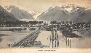 Valdez, Alaska showing Glacier 1907 Vintage Postcard