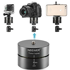 Neewer 360 degree 60 minute Rotating Panning Panoramic Time Lapse Stabilizer