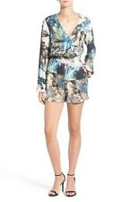 NEW WILLOW & CLAY Surplice PRINTED ROMPER DRESS SIZE SMALL $88 ANTHROPOLOGIE