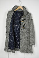 DESIGUAL 17E2008 Women (EU) 40 or ~MEDIUM Wool Blend Ripped Toggle Coat 31540_GS