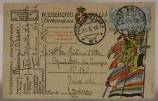 POSTA MILITARE 97 FRANCHIGIA 13° REPARTO D'ASSALTO ARDITI 31.5.1918  #XP443A