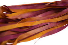 7mm Hand Dyed Silk Ribbon - 3 meters Gold Pansy