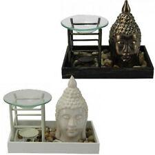 lucky buddha tablett ölbrenner stövchen duft geschenkset melt wax home aroma calm