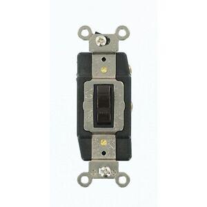 (K) Leviton 1285 SP-DT-Center Off Switch (Brown) Qty 10