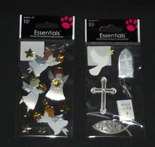 ONE PACK 3 SHEETS BEAUTIFUL STICKERS #DOVE90 RELIGIOUS STICKERS BY CREATOLOGY