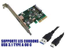 PCIE USB 3.1 10 GB 2 puertos en la plaza trasero TIPO A C Chipset ASM1142