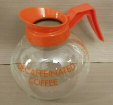 Curtis Co. Commercial Decaffeinated Glass Coffee Pot Decanter with Orange Handle