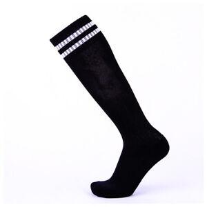 Soccer Socks Mens Knee High Striped Non-slip Hockey Football Sport  Breathable
