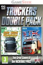TRUCKERS DOUBLE PACK - EURO TRUCK AND UK TRUCK SIMULATOR - PC BRAND NEW