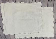 Set of 2 Ivory/ Cream Matelasse Scalloped Edge Standard PILLOW SHAMS