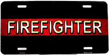 Novelty license plate Medical/Emergency FIREFIGHTER New Aluminum auto  LP-8535