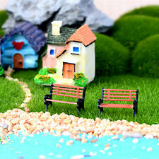 Miniature Park Seat Bench Craft Fairy Dollhouse Decor Mini Garden Ornament YK