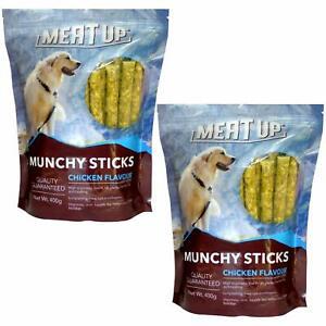Meat Up Munchy Sticks, Chicken Flavour, Dog Treats, 400 g (Buy 1 Get 1 Free)