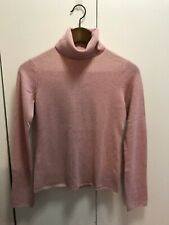 MAG by Magaschoni 100% cashmere pink turtleneck SZ XS