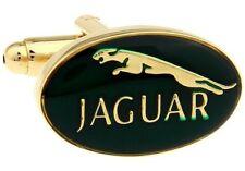 Jaguar Gold Green Cufflinks Formal Business Wedding Gift for Suit Shirt Sports
