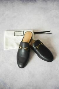 Gucci | Princetown Leather Slippers (EU 37/Black)