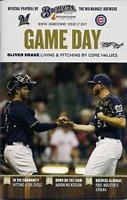 Oliver Drake On Cover Milwaukee Brewers 2017 Official Gameday Program Issue #17