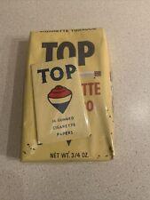 Antique RJ Reynolds Top Brand Cigarette Tobacco Package w Rolling Papers VTG