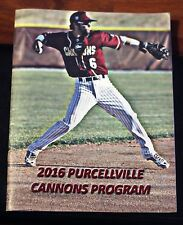 2016 Purcellville Cannons Game Program and Roster Insert
