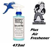 Poorboy's World Spray and Wipe Waterless Wash 16oz + Poor Boys Air Freshener