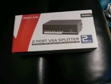 2-Port VGA Splitter High Resolution 1920x1440 Support 350MHz Video Bandwidth.  B