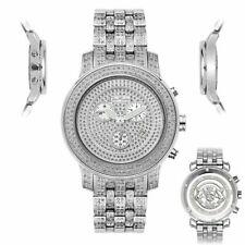 Men's Diamond Watch Joe Rodeo J2024 Fully Loaded 3.5 Ct Illusion Dial