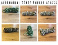 "2 Large Ceremonial Grade Thundercloud Sage Smudging Smudge Sticks | Wands 7 - 8"""