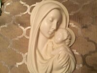 Santini Italy Madonna And Child Wall Plaque