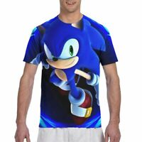 Sonic the Hedgehog Mens Basic T-Shirt Short Sleeve Casual Tops Summer Tee Gifts