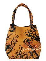 Women Shopping Handbags Orange Tie Dye Locust Tree Hobo Bag New Beach Towel Bags