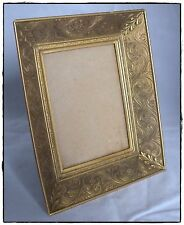 New listing Vintage Shadowbox Metal Mirror, Leaf & Scroll Motif, Velvet Back